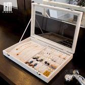 首飾盒 首飾收納盒透明飾品耳飾戒指耳釘項鍊展示整理歐式防塵耳環收納架T