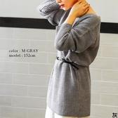 東京著衣-FashionLetter-多色舒適V領落肩針織上衣(6190017)