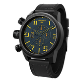 elegantsis 戰地海軍三眼計時腕錶-藍