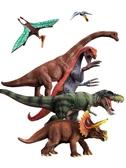 玩模樂塑膠恐龍模型套裝大號霸王龍棘背龍仿真動物兒童男孩玩具 蜜拉貝爾