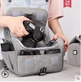 適用佳能單反相機包女鏡頭保護套攝影單肩200d便攜內膽包m6索尼a6000斜跨m100防水