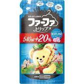 日本【FaFa熊寶貝】行旅柔軟精補充包650ml-花卉皂香
