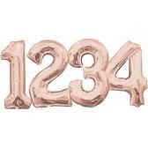 16吋玫瑰金數字鋁箔氣球(不含氣)-0到9