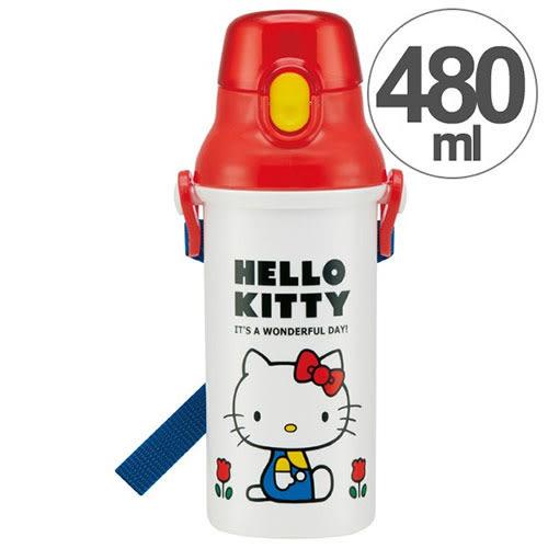 《SKATER》HELLO KITTY直飲式水壺-480ml(70年代)★funbox生活用品★_S31876