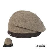 【MIT台灣製造】JUNIPER 秋冬保暖純澳洲羊毛拚色多變畫家貝蕾帽 TJW1005