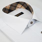 【金‧安德森】經典格紋繞領白色經典釦吸排窄版短袖襯衫