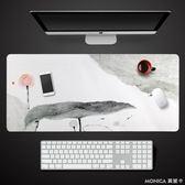 桌墊 辦公室桌墊 ins創意文藝小清新超大號加長款筆記本電腦鍵盤鼠標墊 YXS 莫妮卡小屋