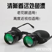 釣魚望遠鏡輕垂釣專用演唱會頭戴眼鏡拉近放大近視老花高清看魚漂 wk10909