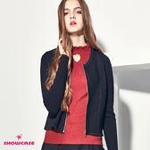 【SHOWCASE】珍珠吊飾立領針織上衣(黑/白/紅)-千元有找