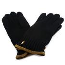 POLO RALPH LAUREN刺繡小馬logo羊毛手套(黑色)780951