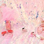 背景布韓國裝飾房間直播掛布ins魚鱗亮片網紅少女心主播拍照照相igo 茱莉亞嚴選