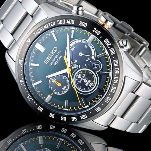 SEIKO Criteria 極速狂風太陽能計時腕錶 V175-0DK0M SSC469P1