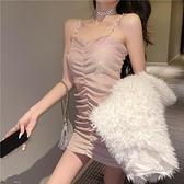 法式吊带裙2021年新款气质性感包臀紧身显瘦打底内搭短款洋裝女