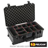 美國 PELICAN 1535 Air TP 輪座拉桿超輕氣密箱-含TrekPak 隔板(黑) (公司貨)