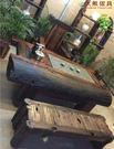 【大熊傢俱】老船木 茶台 茶几 泡茶桌 實木桌 原木桌 主人椅 靠背椅 凳子 船木家具 休閒組椅