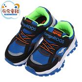 《布布童鞋》KangaROOS袋鼠酷炫TERMINATOR藍黑兒童運動鞋(19~23公分) [ W1O990B ]