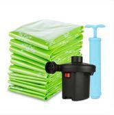 氣真空壓縮袋送電泵12件套大號棉被子衣物真空收納袋整理袋WY688【衣好月圓】
