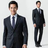 極品西服 商務質男仿毛條紋款西裝外套_藍(AS539-3G)