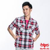 BOBSON 男款格紋短袖外套(23002-13)