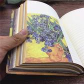 記事本 梵高油畫彩頁A5筆記本文具銅質護角學習禮品文藝范   唯伊時尚
