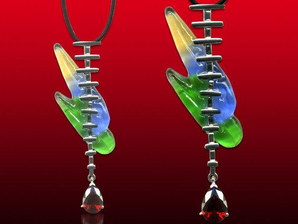 鹿港窯~開運古法水晶琉璃銀飾項鍊~戀曲 附精美包裝◆免運費送到家