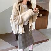 毛衣外套 慵懶風上衣春2021年新款韓版百搭針織衫外套冬季加厚毛衣女【快速出貨八折鉅惠】