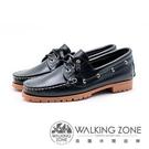 【南紡購物中心】WALKING ZONE 經典款 帆船雷根鞋 女鞋 - 黑藍(另有咖啡)