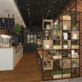 屏風 鐵藝隔斷置物架辦公室工業風咖啡廳餐廳裝飾花架卡座綠植矮屏風