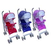 【奇買親子購物網】Mother's Love S500 全罩式可平躺傘車(藍色/紅色/粉紫色)