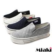 【Miaki】韓版休閒風厚底帆布包鞋懶人鞋