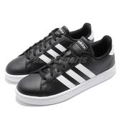 adidas 休閒鞋 Grand Court 黑 白 皮革鞋面 黑白 基本款 男鞋 運動鞋【PUMP306】 F36393
