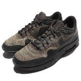 【六折特賣】Nike 復古慢跑鞋 Air Max 1 Ultra Flyknit 黑 軍綠 飛織 氣墊 運動鞋 男鞋 【PUMP306】 856958-203