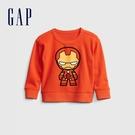 Gap男幼童 Gap x Marvel 漫威系列植絨休閒上衣 862713-橘色