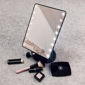 led化妝鏡梳妝化妝鏡隨身化妝鏡帶鏡子大號美容桌面大臺面美容鏡面led桌鏡 99免運