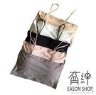 EASON SHOP(GU6982)冰絲美背一片式裹胸文胸小吊帶背心女上衣帶胸墊無鋼圈聚攏抹胸防走光彈力貼身