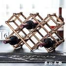 歐式實木紅酒架擺件創意葡萄酒架實木展示架家用酒瓶架客廳酒架子 夢幻衣都