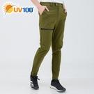 UV100 防曬 抗UV-可縮口修身長褲-男