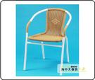 {{ 海中天休閒傢俱廣場 }} G-52 戶外時尚 編藤桌椅系列 59-8 藤椅/白管本色