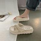 拖鞋 網紅涼拖鞋女外穿2021年新款夏季時尚鬆糕厚底外出懶人拖鞋ins潮 美物