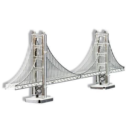 ★funbox玩具★METALLIC NANO PUZZLE 金屬微型模型拼圖 01 美國金門大橋 NO21901