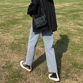 淺色牛仔褲女九分直筒寬鬆年新款潮高腰顯瘦百搭垂感寬管褲子 中秋特惠