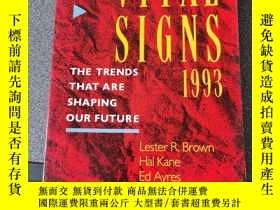 二手書博民逛書店Vital罕見Signs 1993: The Trends That Are Shaping Our Future