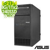 【現貨】ASUS伺服器 TS100-E10 E-2124/8GB/240SSD+1TBx2/W10P商用伺服器