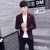 中大尺碼 新款休閒西服男士韓版修身上衣服青年帥氣小西裝潮流男裝外套 zm2489『男人範』