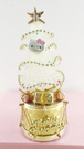 【震撼精品百貨】Hello Kitty 凱蒂貓~聖誕擺飾-聖誕樹-kitty圖案-白金