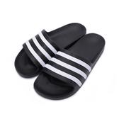 ADIDAS ADILETTE AQUA 運動拖鞋 黑白 F35543 男鞋 鞋全家福