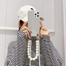 毆珀Find X3 Pro保護殼 創意腕帶透明oppo保護套 OPPO Find X3 PRO手機套 珍珠鏈條find x3pro手機殼
