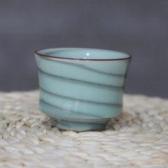 龍泉青瓷手工拉胚粉青品茗杯