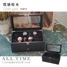 │完全計時│精緻手錶收藏盒~【質感原木盒22只裝】超容量 黑原木抽屜 禮物 (木盒08)