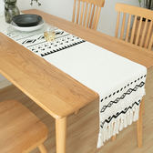 餐桌桌旗北歐輕奢現代簡約ins茶幾裝飾布鞋櫃電視櫃桌布長條流蘇